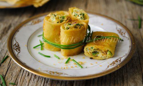 Paccheri zucchine speck e ricotta gratinati in padella