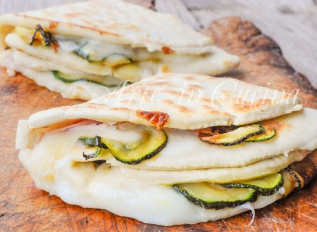 Piadina con zucchine stracchino e prosciutto