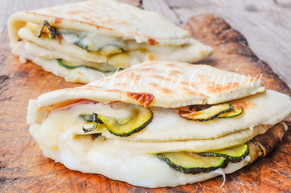 Piadina con zucchine stracchino e prosciutto vickyart arte in cucina