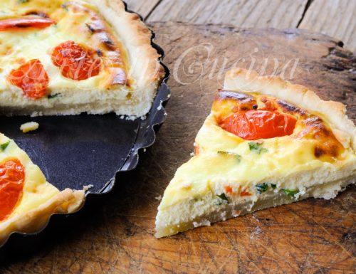 Quiche ricotta e pomodorini ricetta veloce