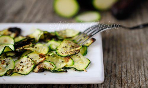 Rondelle di zucchine e origano al forno ricetta light