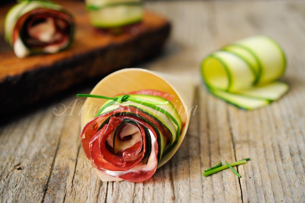 Rose di zucchine e bresaola senza sfoglia veloci light vickyart arte in cucina