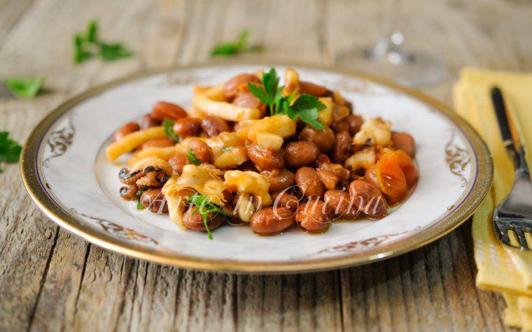 Seppie con fagioli borlotti ricetta secondo di pesce