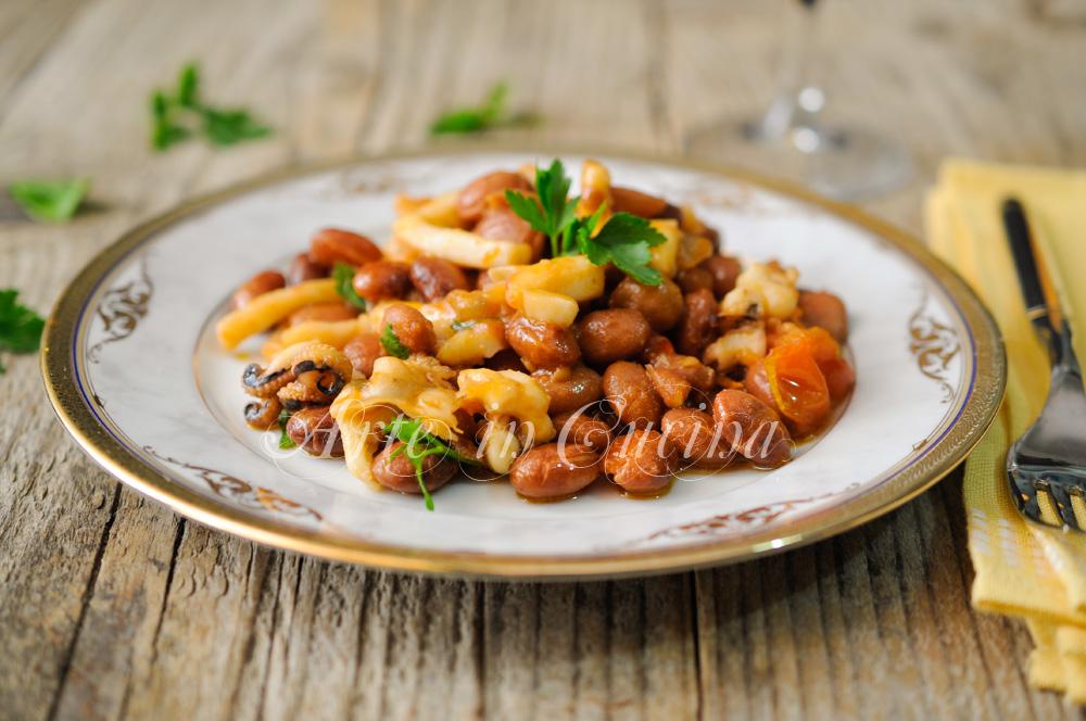 Seppie con fagioli borlotti ricetta secondo di pesce vickyart arte in cucina