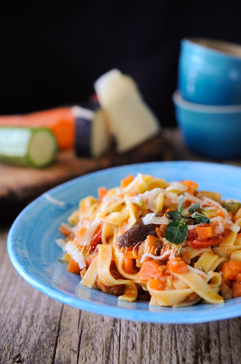 Tagliatelle al ragu di verdure facile e veloce vickyart arte in cucina