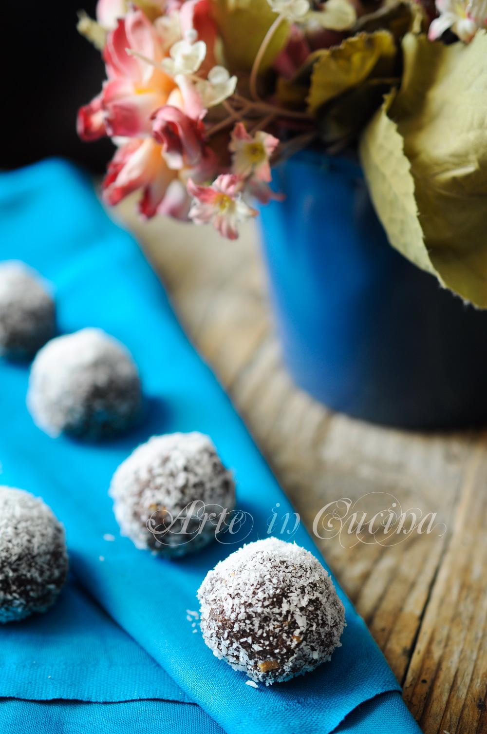 Tartufi caffè cocco e cioccolato veloci vickyart arte in cucina
