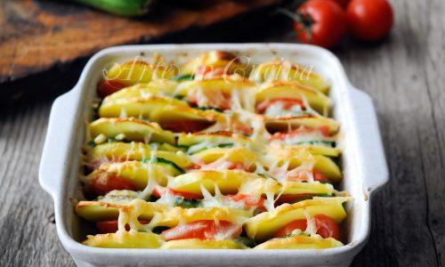 Teglia patate zucchine e pomodori ricetta piatto unico