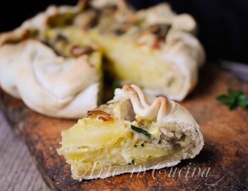 Torta baciocca con patate e funghi ricetta ligure