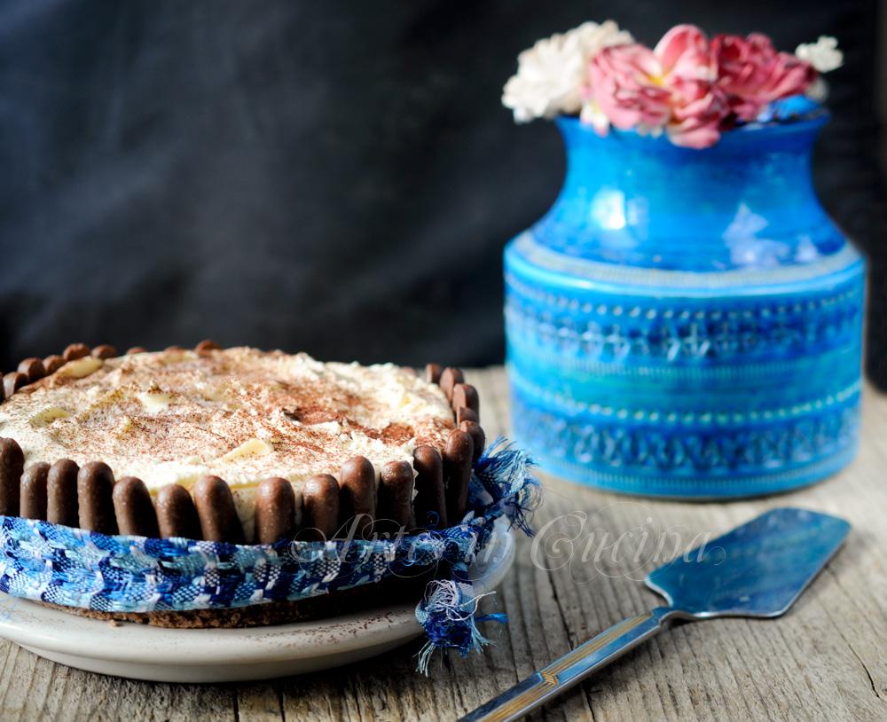 Torta nera e bianca dolce al doppio cioccolato vickyart arte in cucina
