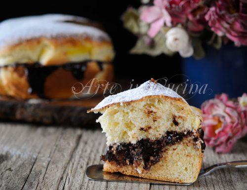 Torta pan brioche nutella o cioccolato ricetta dolce