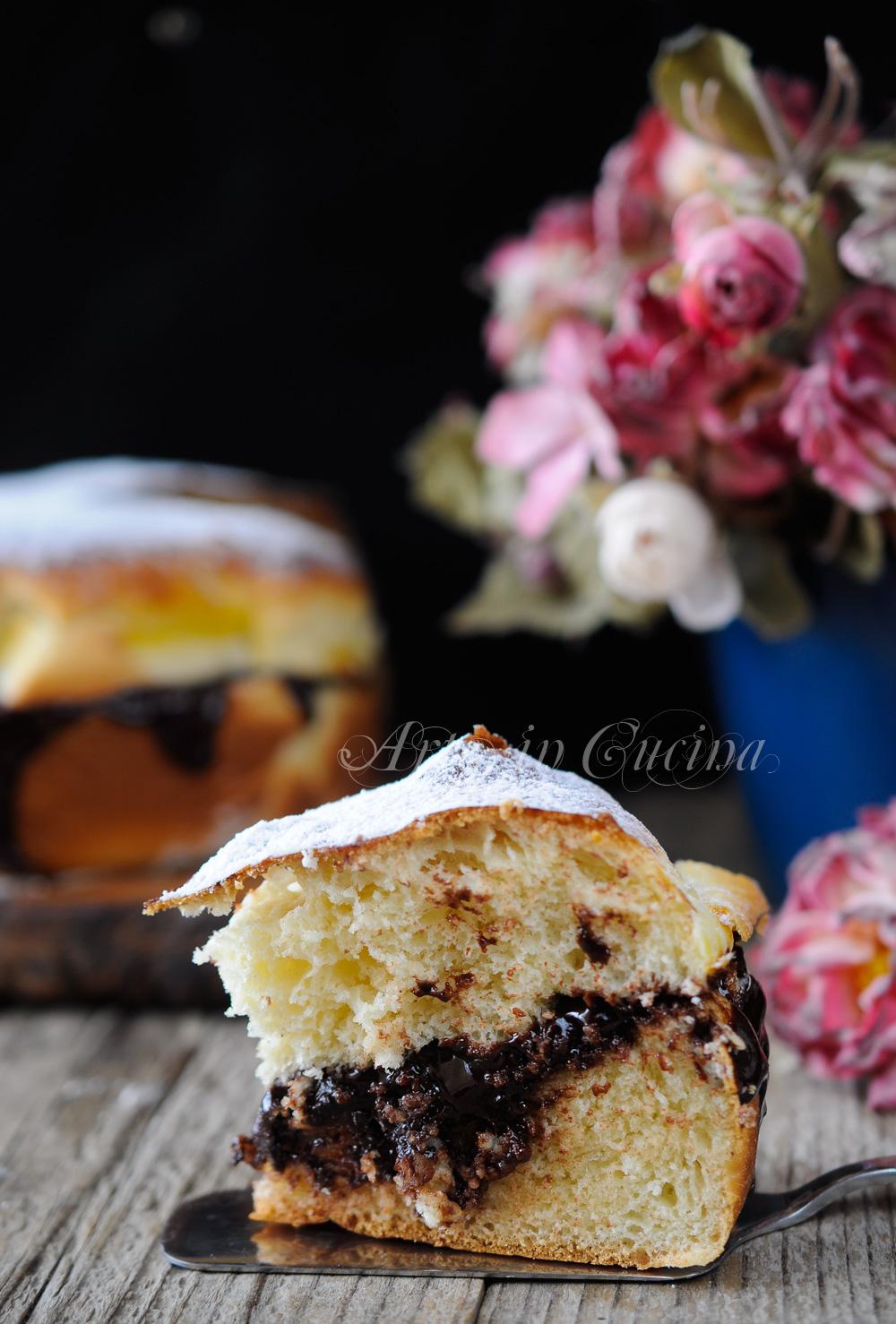 Torta pan brioche nutella o cioccolato ricetta dolce for Cucina dolce