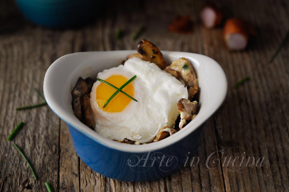 Uova affogate con funghi e panna ricetta veloce vickyart arte in cucina