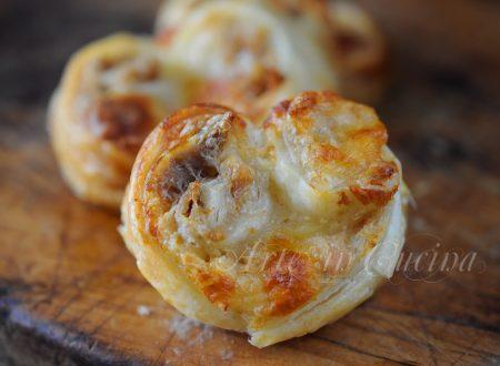 Ventagli tonno e gorgonzola con pasta sfoglia
