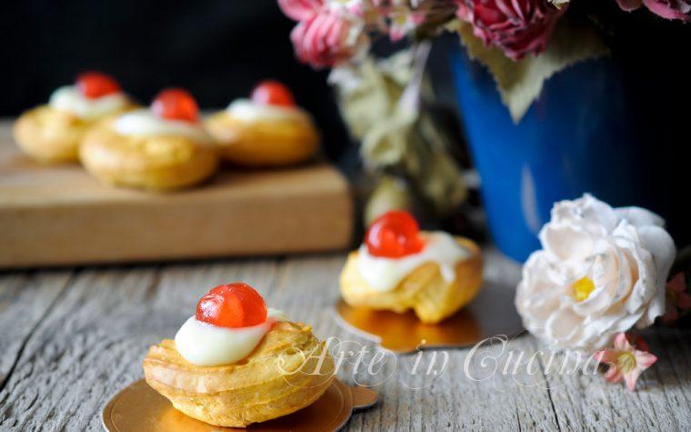Zeppole di S.Giuseppe al forno con crema pasticcera