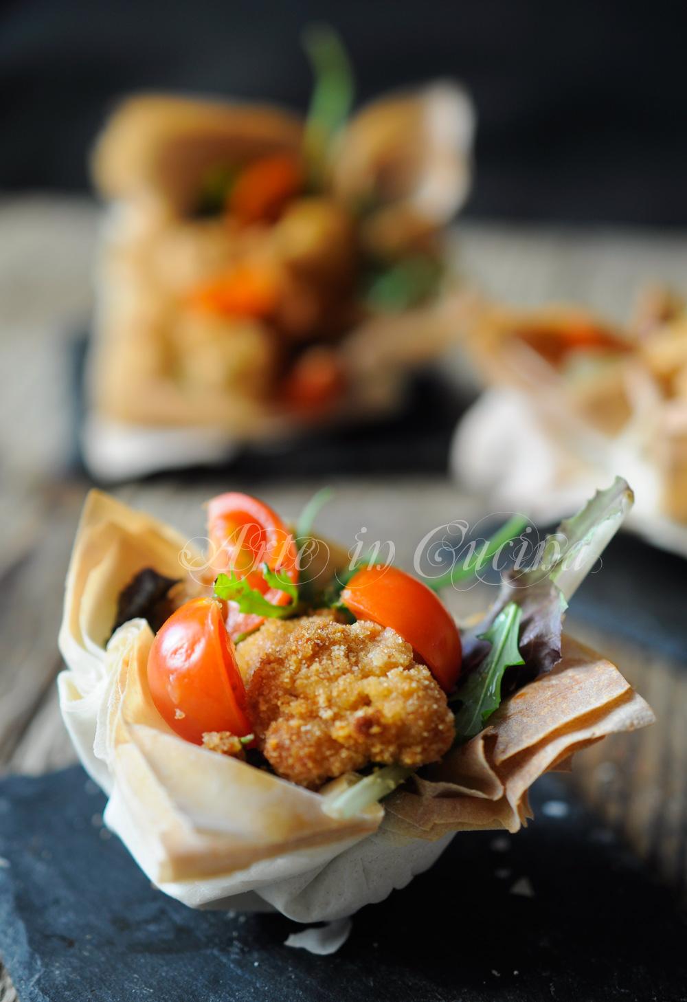 Cestini veloci con insalata e pollo sfizioso vickyart arte in cucina