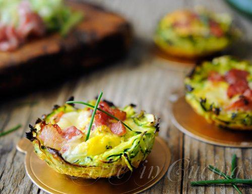 Cestini di zucchine ripieni ricetta veloce