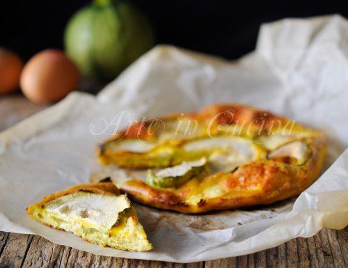 Frittata di zucchine e ricotta con provola al forno