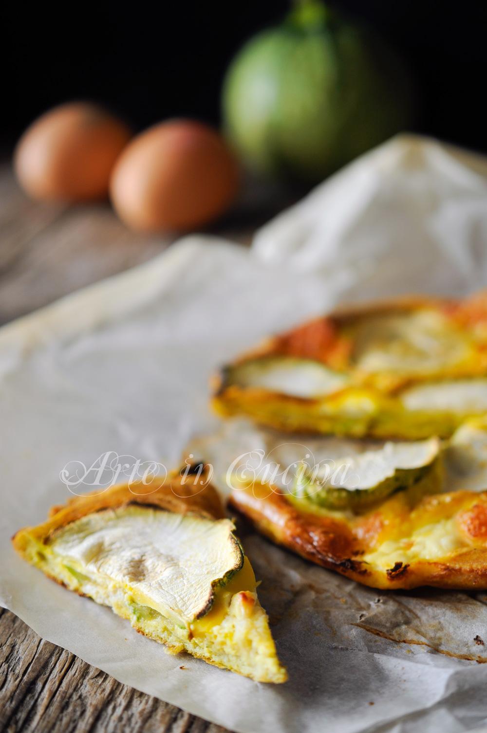 Frittata di zucchine e ricotta con provola al forno vickyart arte in cucina