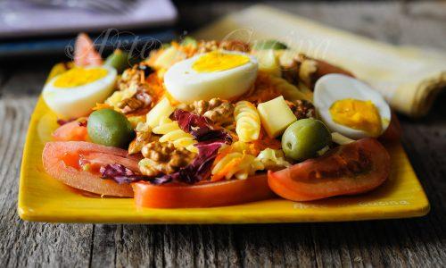 Fusilli all'insalata pasta fredda ricetta veloce