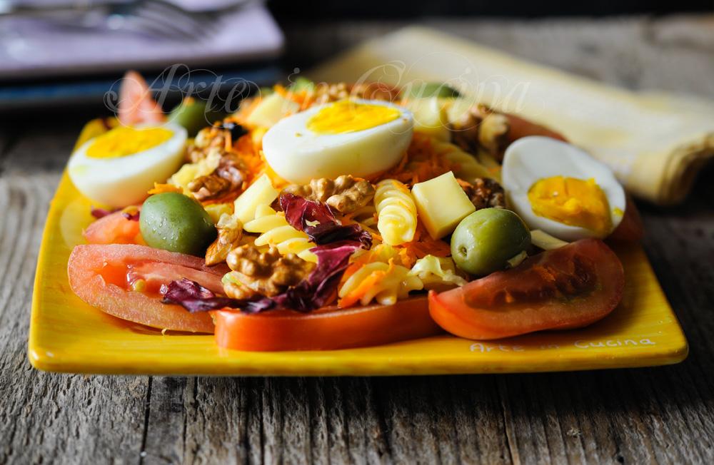 Fusilli all'insalata pasta fredda ricetta veloce vickyart arte in cucina