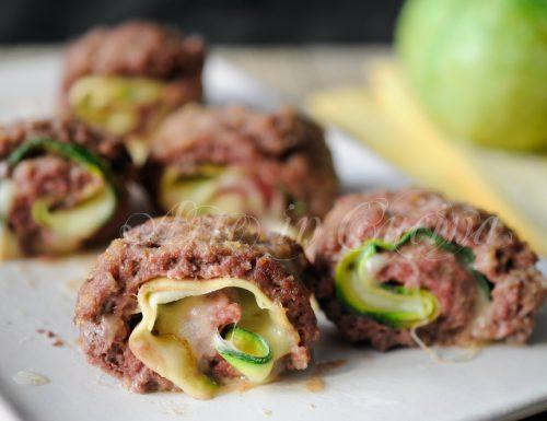 Girelle di carne al forno con zucchine e provola