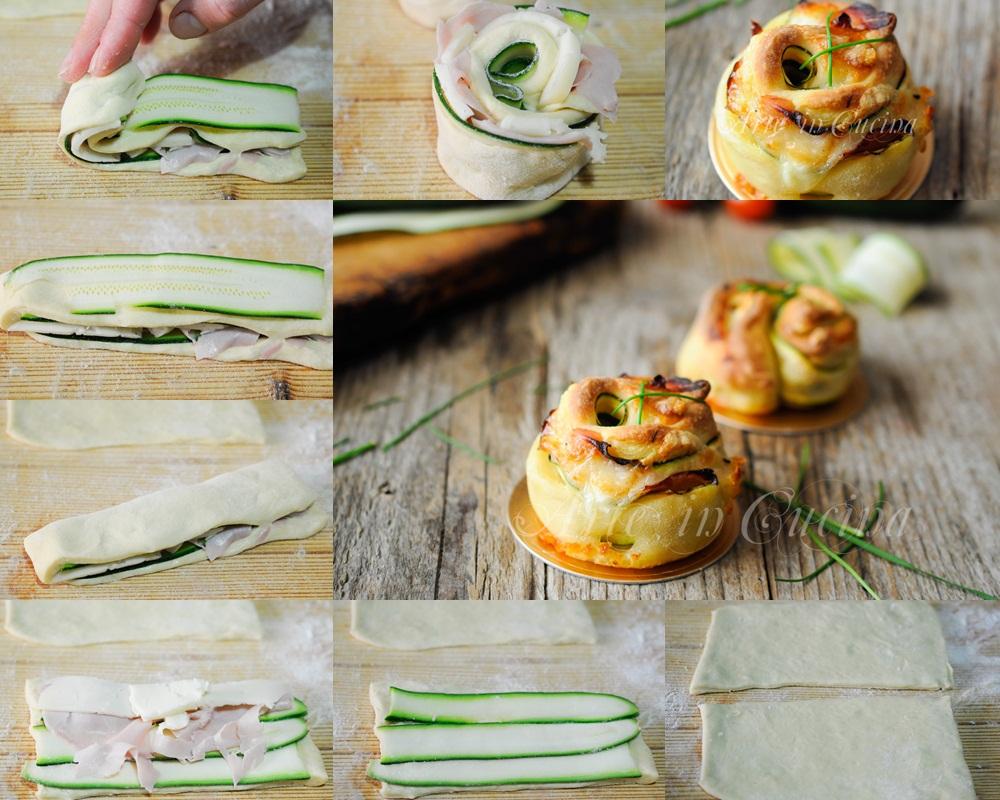 Girelle di pizza con zucchine e prosciutto vickyart arte in cucina