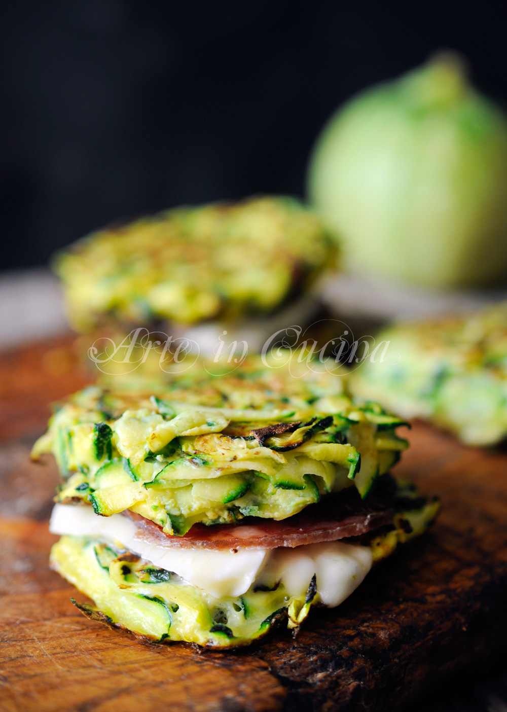 Hamburger di zucchine farcite ricetta veloce vickyart arte in cucina