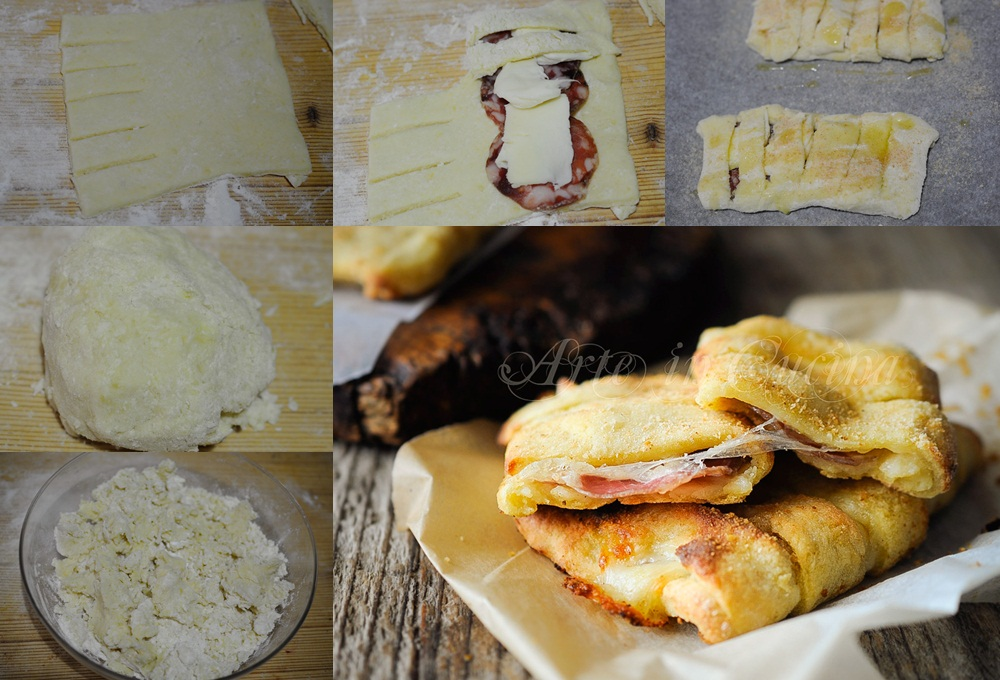 Involtini di patate farciti con salame e formaggio vickyart arte in cucina