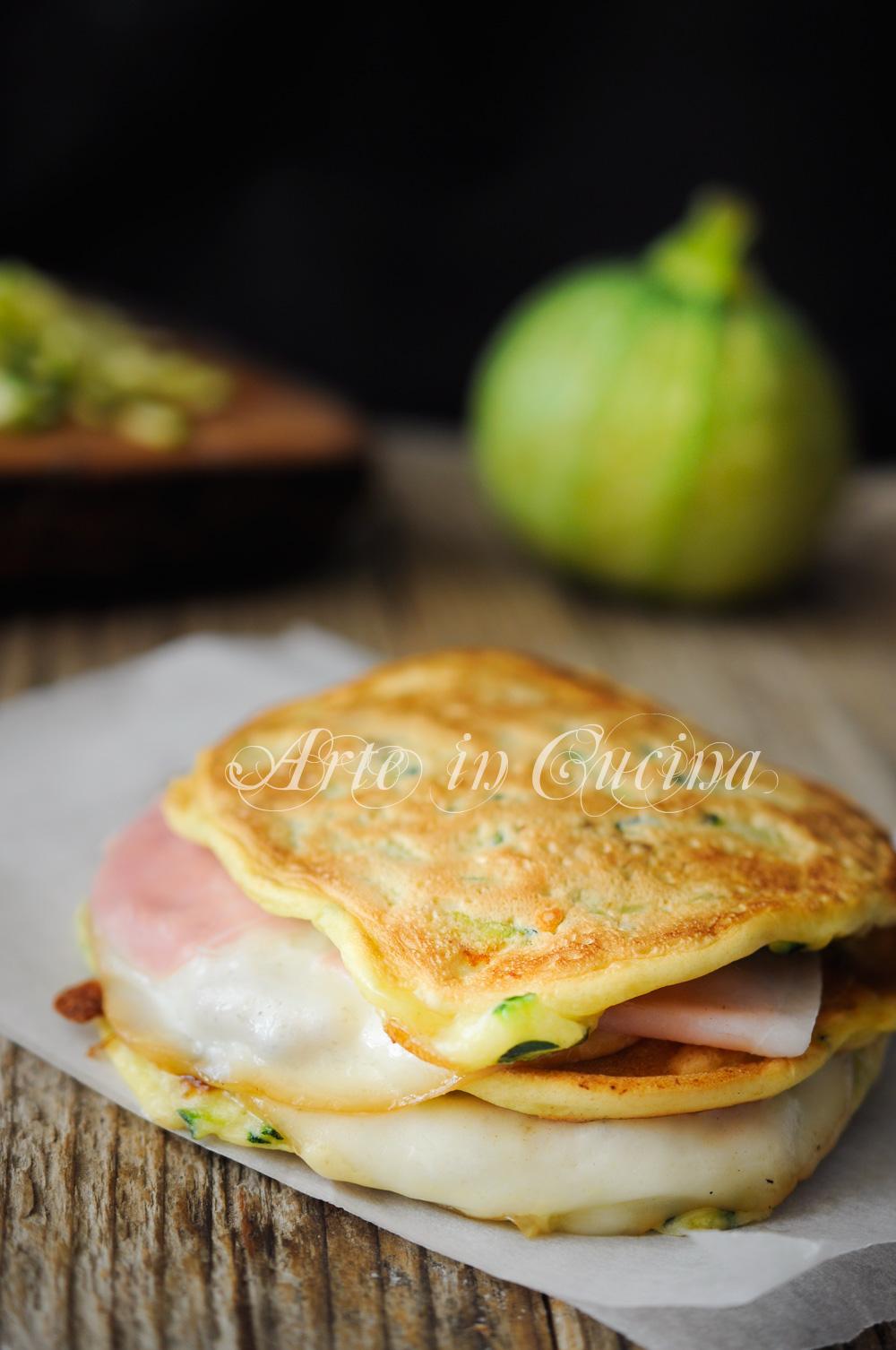 Pancakes zucchine e formaggio ricetta veloce vickyart arte in cucina