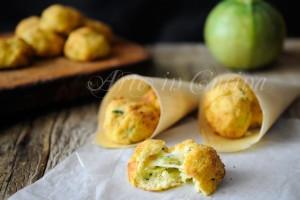 Polpette di patate ricotta e zucchine al forno