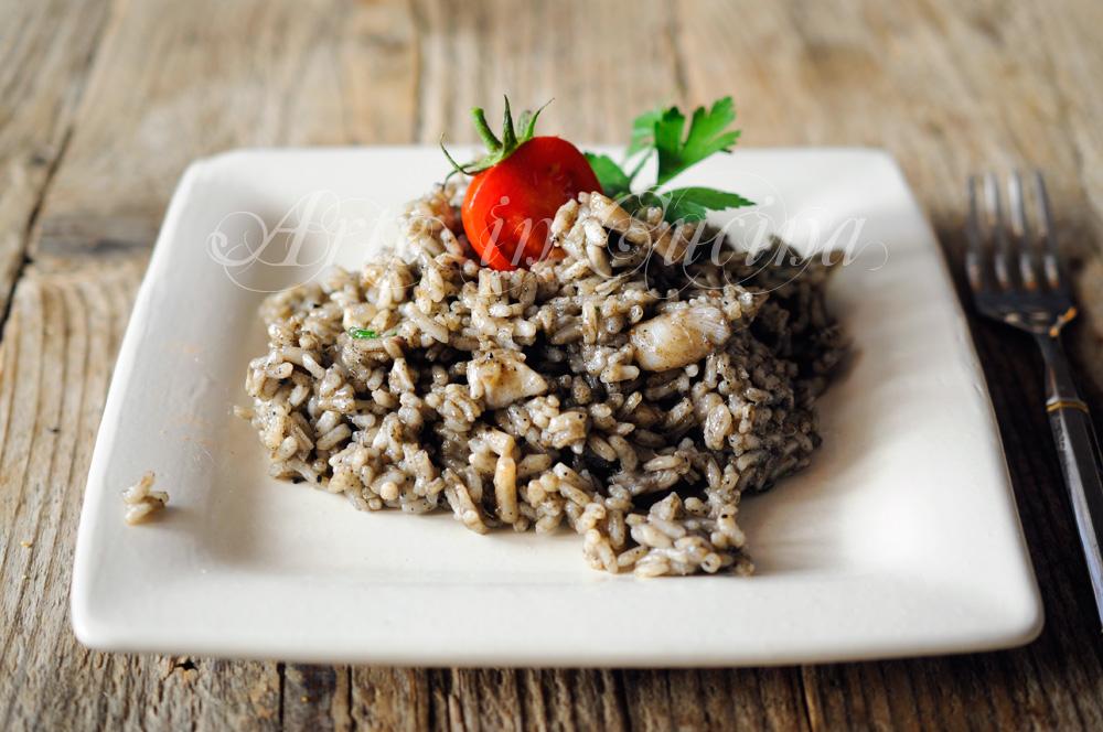 Risotto al nero di seppia ricetta facile