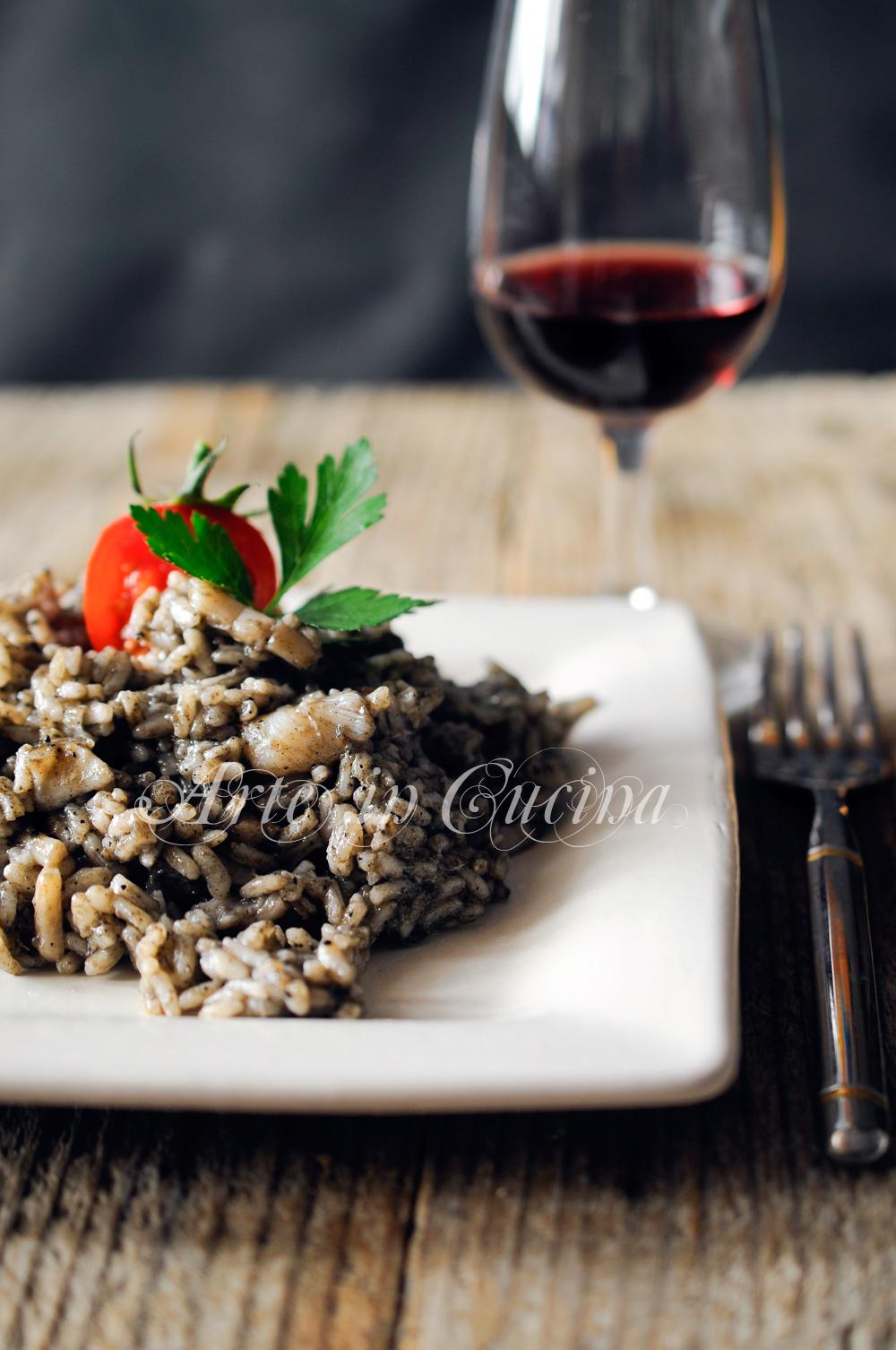 Risotto al nero di seppia ricetta facile vickyart arte in cucina