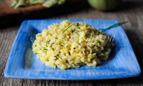Risotto zucchine e gorgonzola allo zafferano