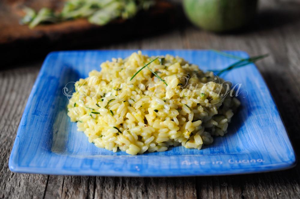 Risotto zucchine e gorgonzola allo zafferano vickyart arte in cucina