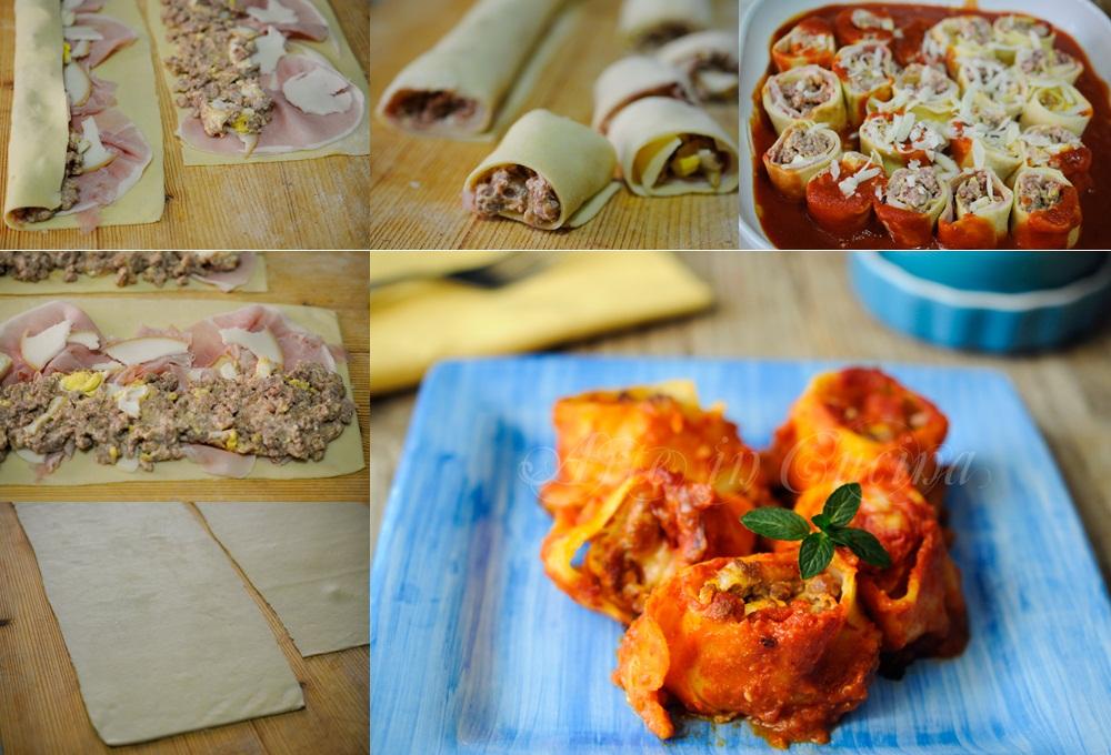 Nidi di pasta ripieni con carne e ricotta vickyart arte in cucina