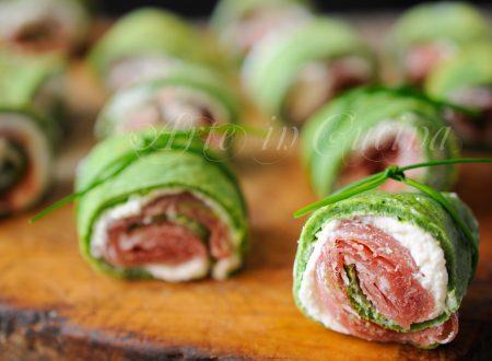 Rotolini tricolore farciti finger food veloci