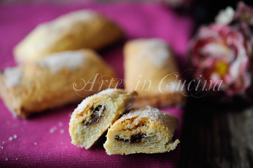 Saccottini di frolla al cioccolato dolci veloci vickyart arte in cucina