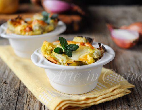 Souffle ai carciofi e formaggi ricetta facile