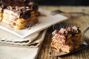 Tiramisu al cioccolato con crema senza uova