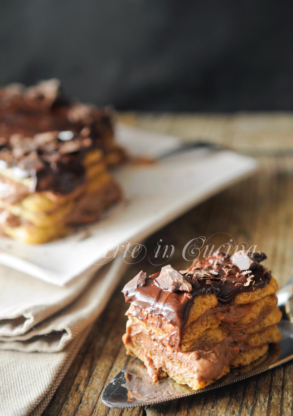 Tiramisu al cioccolato con crema senza uova vickyart arte in cucina