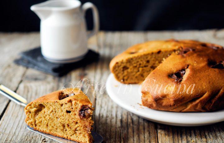 Torta al caffè ricotta e cioccolato senza burro