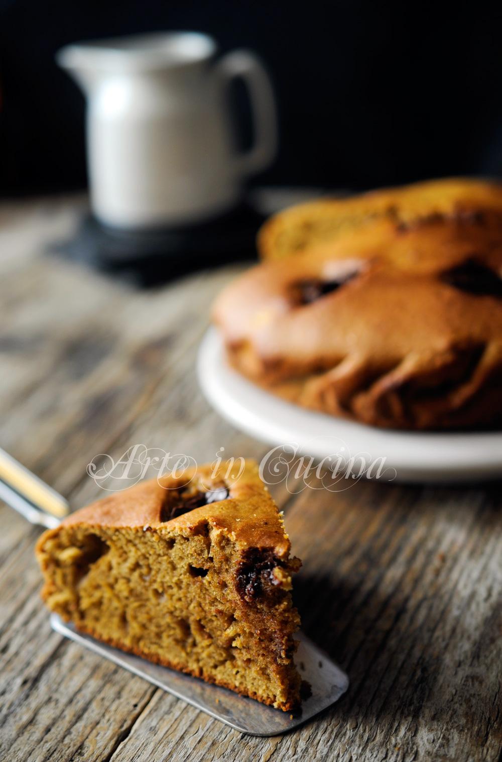 Torta al caffè ricotta e cioccolato senza burro vickyart arte in cucina