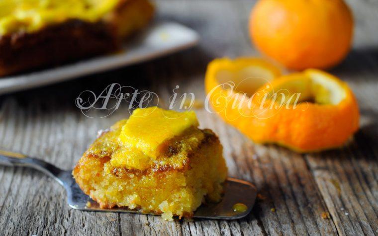 Torta di sabbia all'arancia ricetta dolce veloce