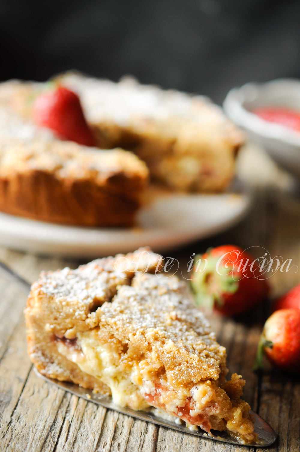 Torta fragole e mascarpone con base di biscotti vickyart arte in cucina