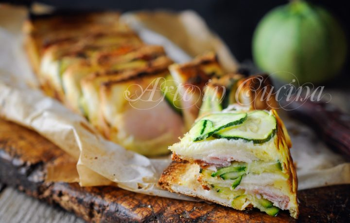Torta di pane e zucchine con provola ricetta veloce