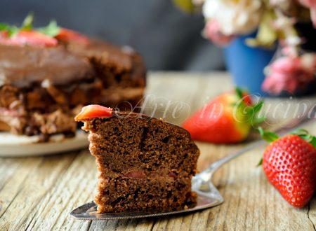 Torta veloce mandorle e cioccolato alla crema