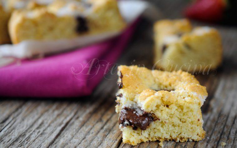Tortine morbide mandorle e cioccolato veloci