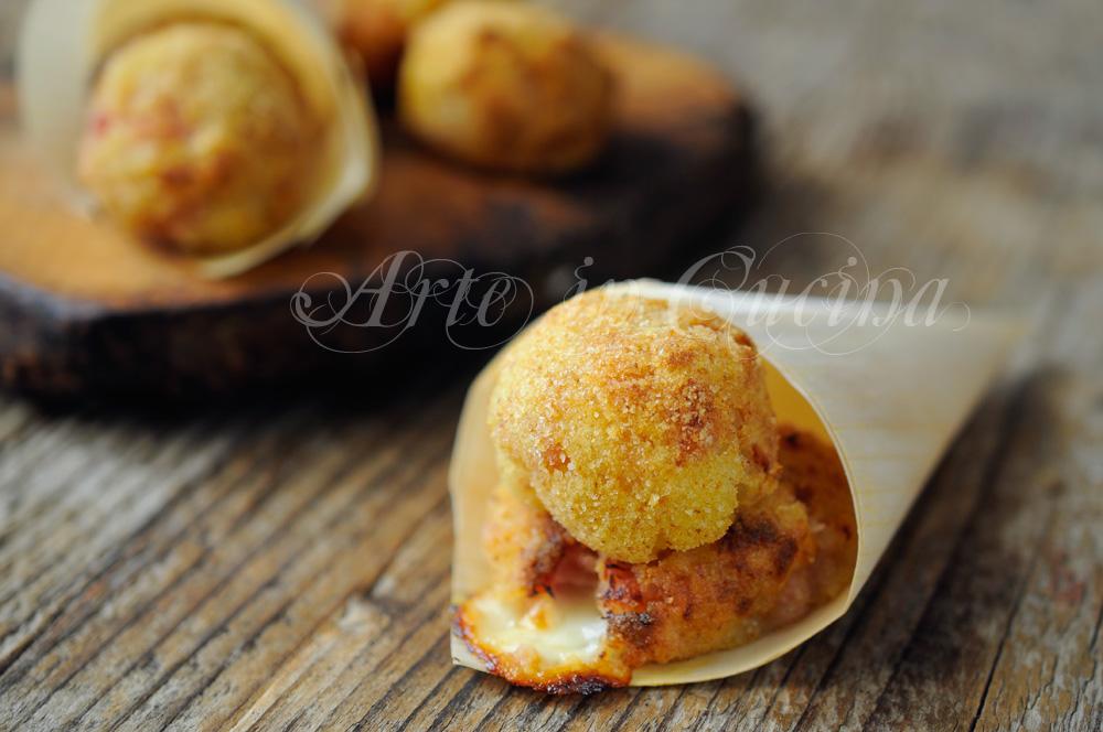 Bombe di prosciutto e patate ricetta sfiziosa vickyart arte in cucina