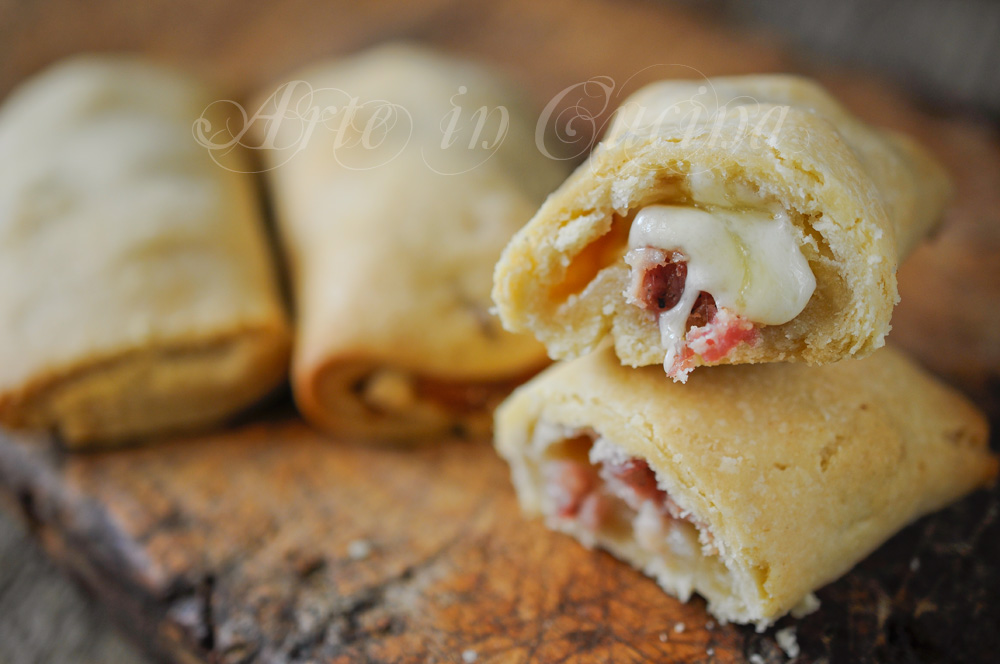 Cannoli di brisè farciti con salumi e formaggi vickyart arte in cucina