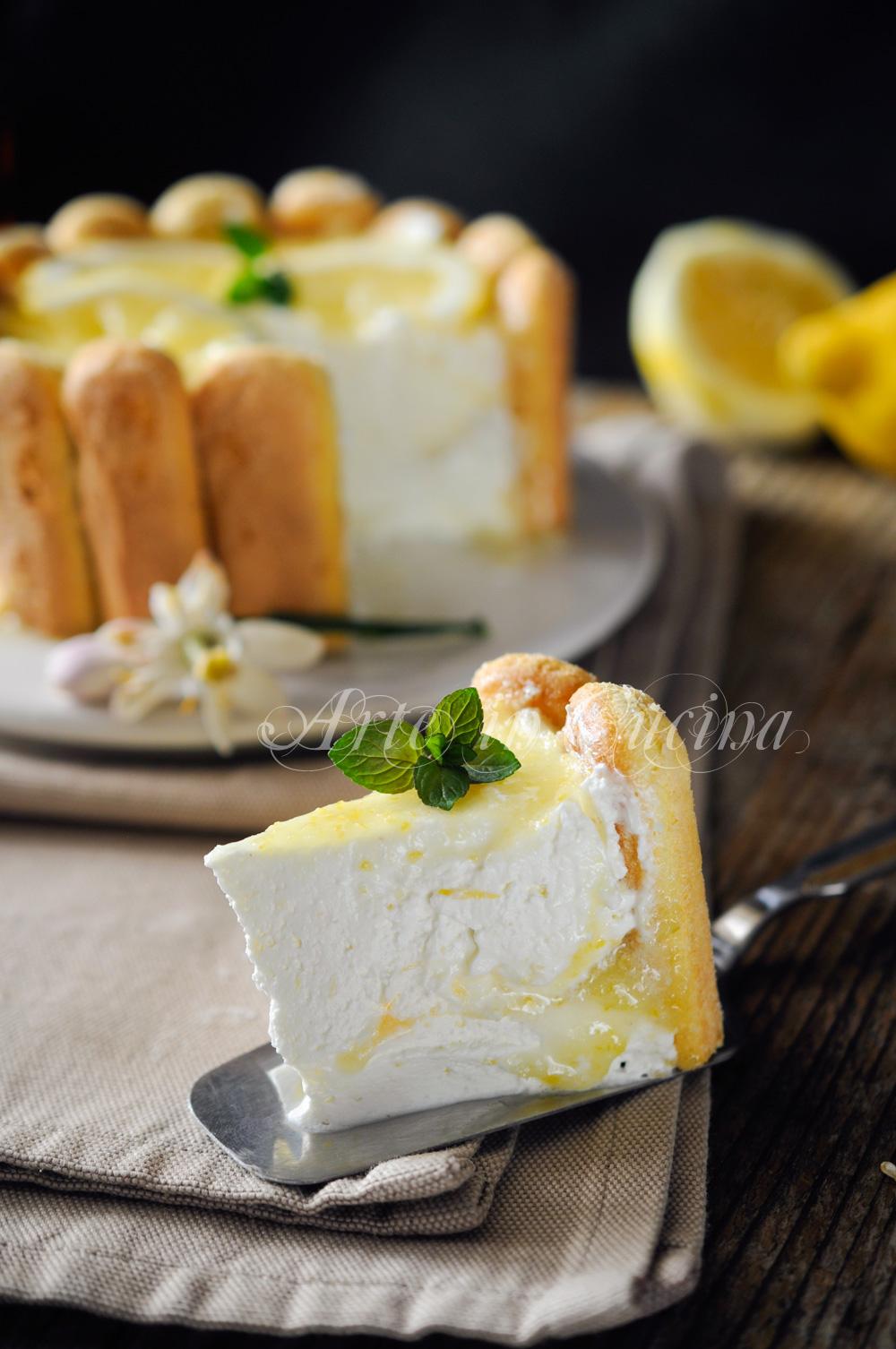 Charlotte al limone ricetta dolce senza cottura facile for Cucina facile ricette